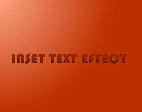 inset text effect-shadow effect